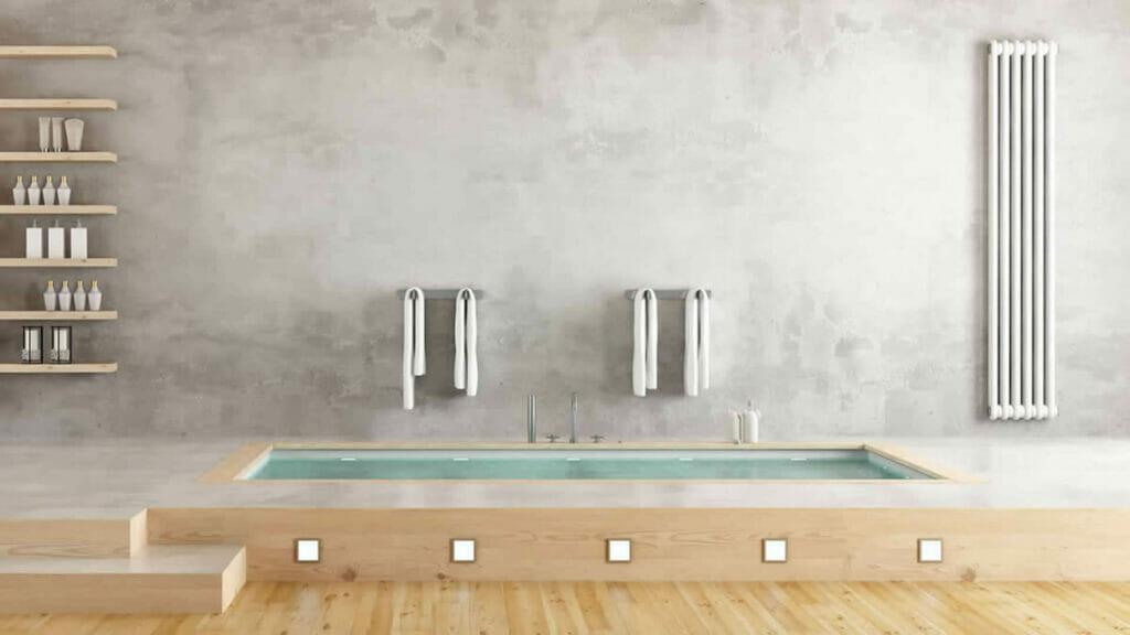 beton cire badkamer - bubbelbad