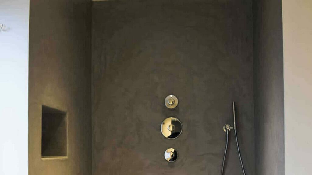 beton cire badkamer - douche