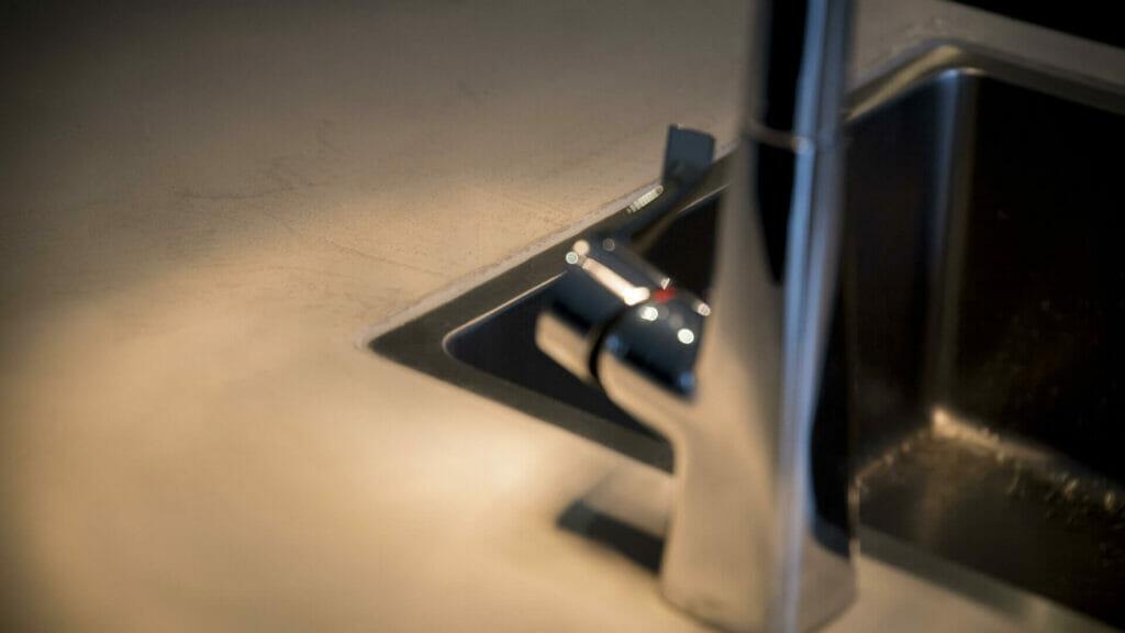 beton cire keuken - spoelbak