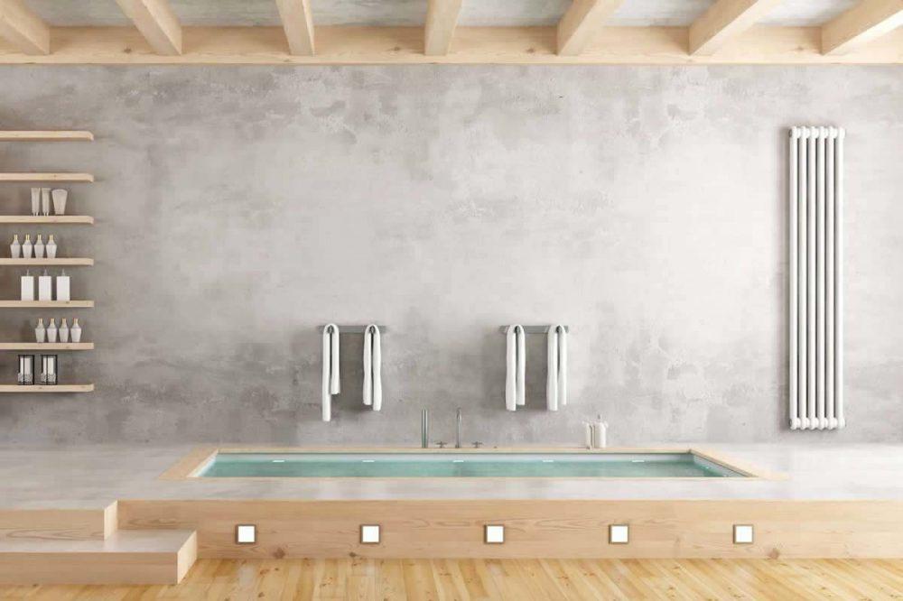 Beton ciré badkamer muur