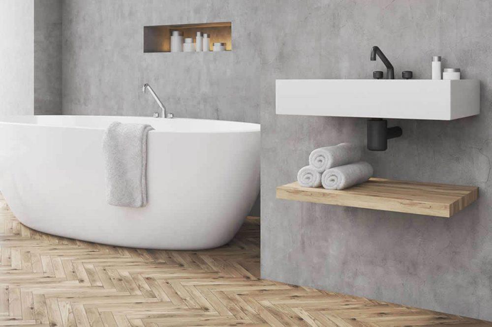 Betonlook badkamer voorbeeld