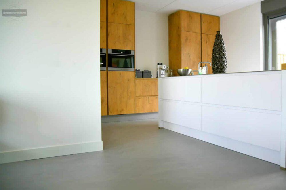 Betonlook keukenvloer